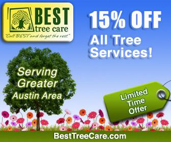Austin Tree Services Spring 15% Savings