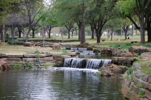 Commercial Landscaping Near Leander With Waterfall